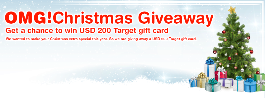 OMG! Christmas Giveaway 2015 - Win USD 200 Target Gift Card